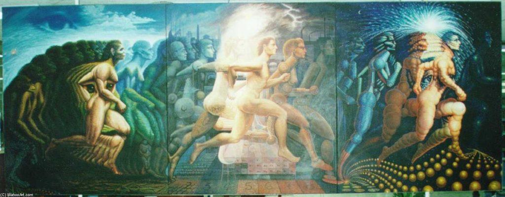 L'évolution de l'homme par Ocampo