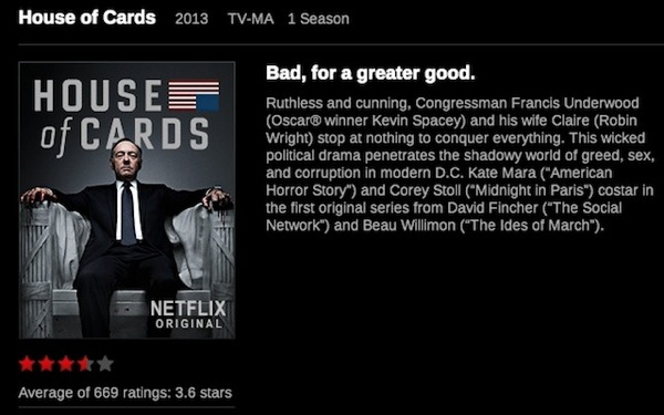 netflix 2013 house of cards